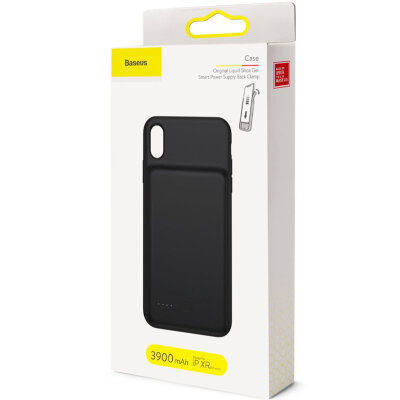 Чехол Baseus Silicone Smart Backpack Power For для Iphone XR 6.1inch (ACAPIPH61-BJ01) - Black