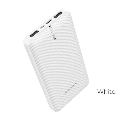 Power Bank Borofone BT18A Prosperous 13000mAh - White