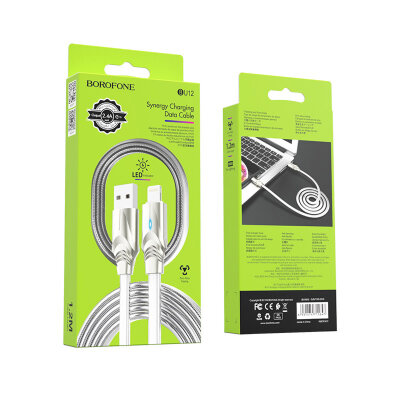Кабель Borofone BU12 Synergy charging data cable for Lightning - Silver
