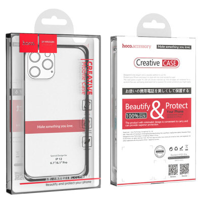 Чехол hoco Light series TPU case для iPhone 12 6.1/6.1 12 Pro - Transparent
