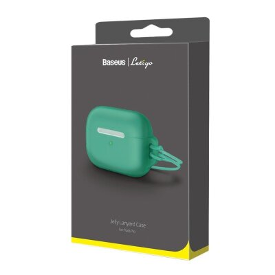 Чехол для AirPods Pro Baseus Let''s go Jelly Lanyard Case for pods pro (WIAPPOD-D06) - Green (with green lanyard)