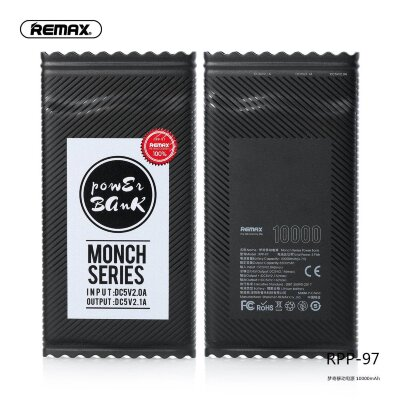 Power Bank Remax Monch Series 10000mah RPP-97 - Black