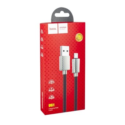 Кабель hoco U61 Treasure charging data cable for Lightning - LV Red