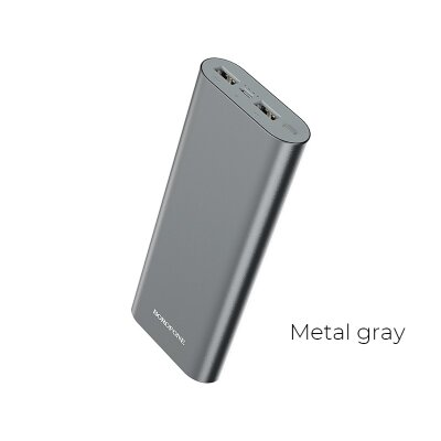 Power Bank Borofone BT19B Universal 20000mAh - Silver
