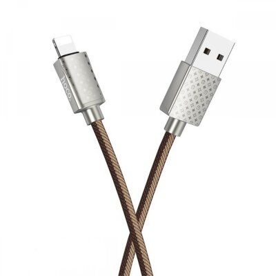 Кабель hoco U61 Treasure charging data cable for Lightning - Brown