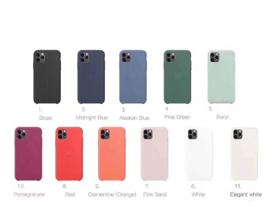 Чехол Silicone Case PREMIUM для Iphone 11 -  Clementine (Orange) (8)