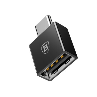 Переходник Baseus Exquisite Type-C Male to USB Female Adapter Converter (CATJQ-B01) - Черный