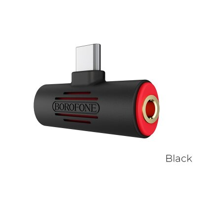 Аудио-Переходник Borofone Audio converter USB-C to USB-C & 3.5mm jack BV8 - Black