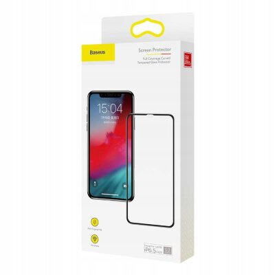 Защитное стекло Baseus Full coverage curved tempered glass protector For для Iphone XS Max/11 Pro Max (SGAPIPH65-KC01) - Black