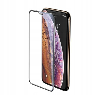 Защитное стекло Baseus full-screen curved tempered glass screen protector (cellular dust prevention) для Iphone XS Max/11 Pro Max (SGAPIPH65-WA01) - Black