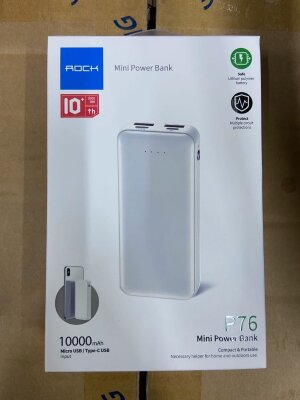 Power Bank Rock 10000mAh P76 mini - White