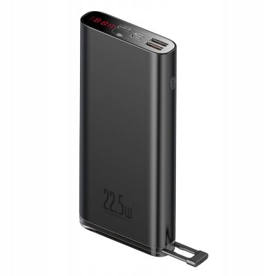 Внешний аккумулятор Baseus Starlight Digital Display Quick Charg Power Bank 20000mAh 22.5W (PPXC-01) - Black