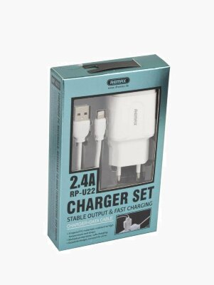 Сетевой адаптер Remax 2.4A 2U Charger Set  for Lightning RP-U22 - White