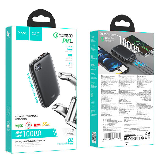 Power Bank hoco Q2 Galax 10000mAh - Black