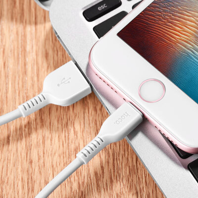 Кабель hoco X13 Easy charged lightning - White