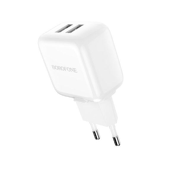 Сетевой адаптер Borofone Wall charger BA18 Vigorous power EU - White