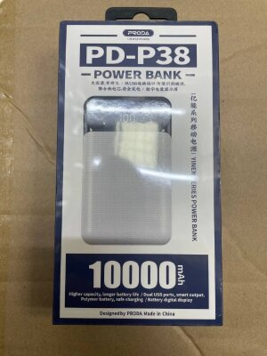 Power Bank PRODA YINEN Series 10000mah PD-P38 - White