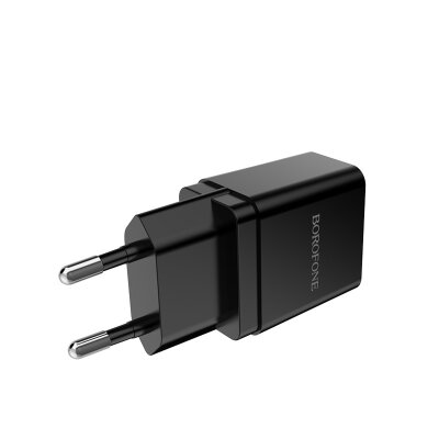 Сетевой адаптер Borofone  Wall charger BA19A Nimble EU - Black