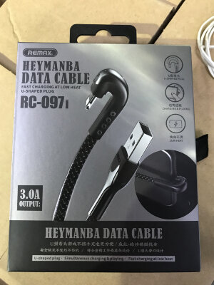Кабель Remax HEYMANBA Series Gaming Cable 3.0A for lightning  RC-097i - Black