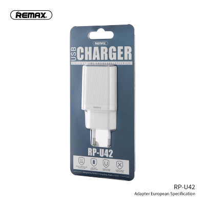 Сетевой адаптер Remax Single USB Charger RP-U42 - White