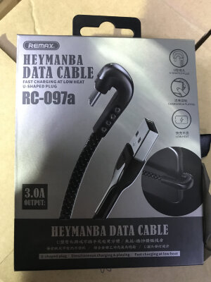 Кабель Remax HEYMANBA Series Gaming Cable 3.0A for TypeC RC-097a - Black