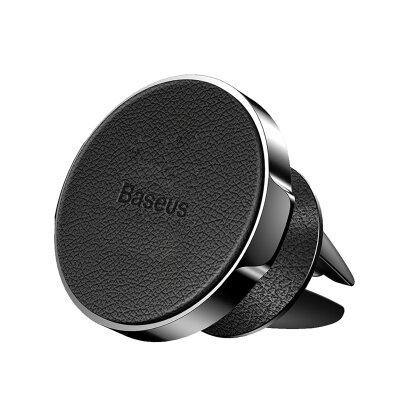 Держатель Baseus Small ears series Air Outlet Magnetic bracket (Genuirte Leather type) (SUER-E01) - Чёрный