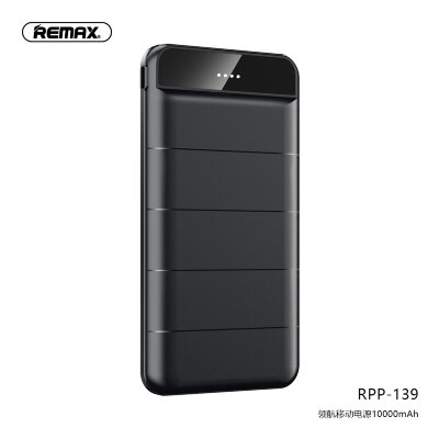 Power Bank Remax 10000mAh RPP-139 Leader - Black