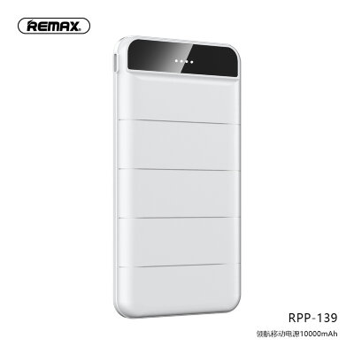 Power Bank Remax 10000mAh RPP-139 Leader - White
