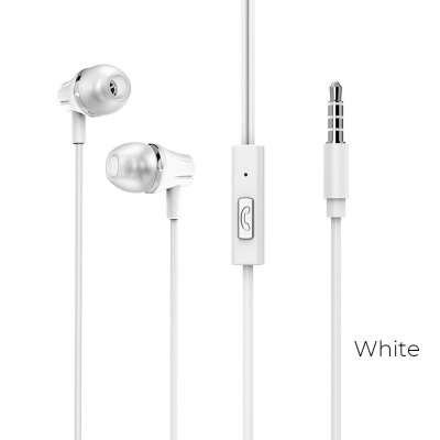 Наушники Borofone BM21 Graceful universal earphones - Белый