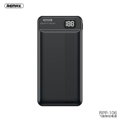 Power Bank  Remax 20000mAh RPP-106 Fizi - Black