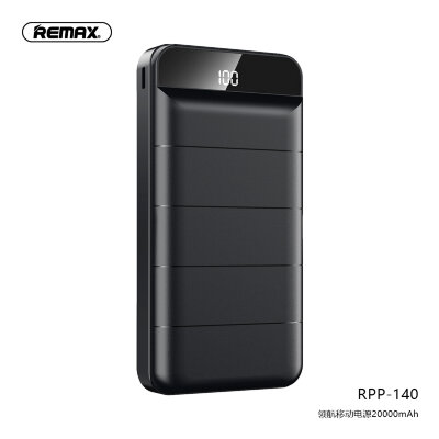 Power Bank Remax 20000mAh RPP-140 Leader - Black