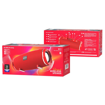 Колонка Borofone BR3 Rich sound sports wireless speaker - Red