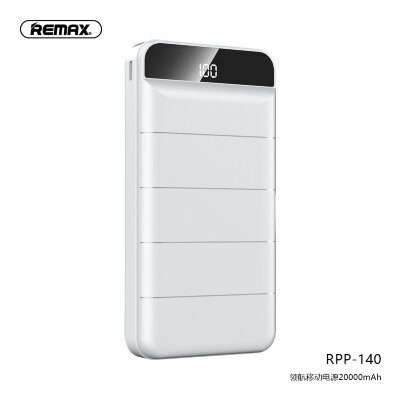 Power Bank Remax 20000mAh RPP-140 Leader - White