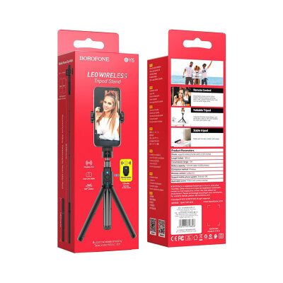 Селфи Палка Borofone BY5 Leo wireless tripod stand - Black