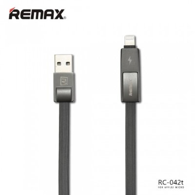 Кабель Remax Strive 2 в 1 RC-042t - Серый