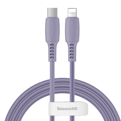 Кабель Baseus Colourful Cable Type-C For iP 18W 1.2m (CATLDC-05) - Purple