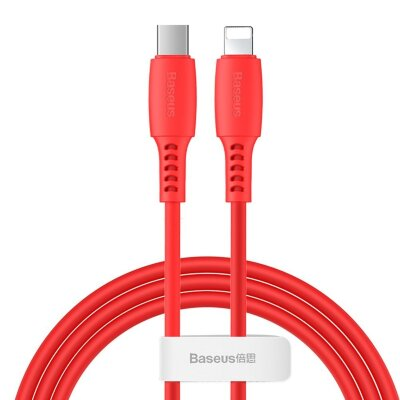 Кабель Baseus Colourful Cable Type-C For iP 18W 1.2m (CATLDC-09) - Red