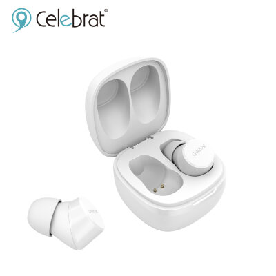 Наушники беспроводные Celebrat W1 Mini BT Earbuds Earphones TWS - White