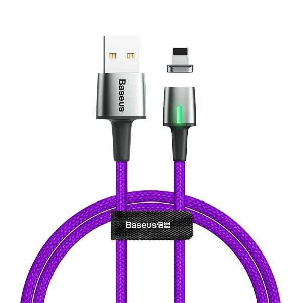 Кабель Baseus Zinc Magnetic Cable USB For iP 1.5A 2m (CALXC-B05) - Purple