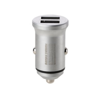 Автомобильное ЗУ Remax Alloy Series car charger 4.8A RCC222 - Silver