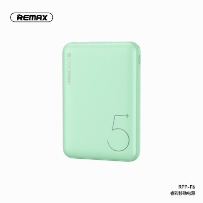Power Bank REMAX Ritry Series 2 USB 5000mAh RPP-116 - Green