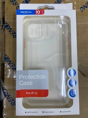 Чехол Rock Protection Case для Iphone 11 - White/Red