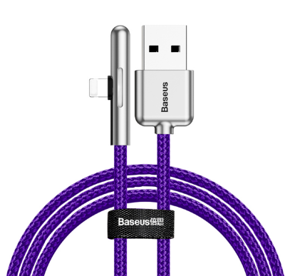 Кабель Baseus Iridescent Lamp Mobile Game Cable USB For iP 1.5A 2m (CAL7C-B05) - Purple