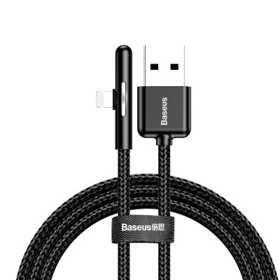 Кабель Baseus Iridescent Lamp Mobile Game Cable USB For iP 1.5A 2m (CAL7C-B01) - Black