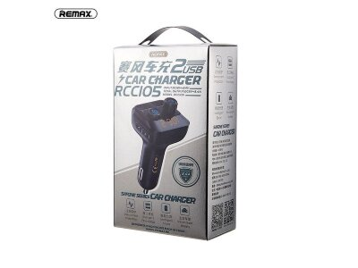 Автомобильное ЗУ Remax REMAX race frequency FM car charger RCC105 - Black