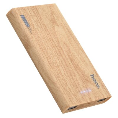 Power Bank hoco B36 Wooden mobile (13000mAh) - Oak Wood