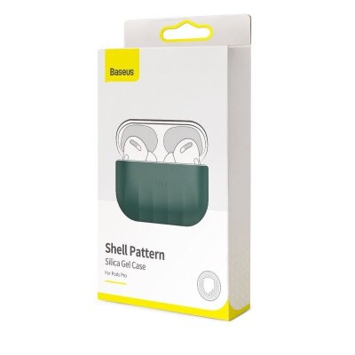 Чехол для AirPods Pro Baseus Shell pattern Silica Gel Case For Pods Pro (WIAPPOD-BK06) - Green