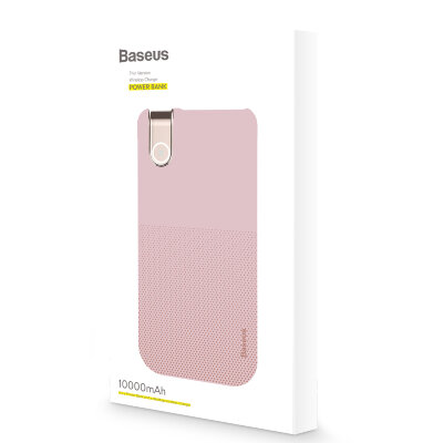 Беспроводная зарядка Baseus Thin Version Werelees Charge Power Bank (10000 mAh) (PPALL-QY04) -  Розовый