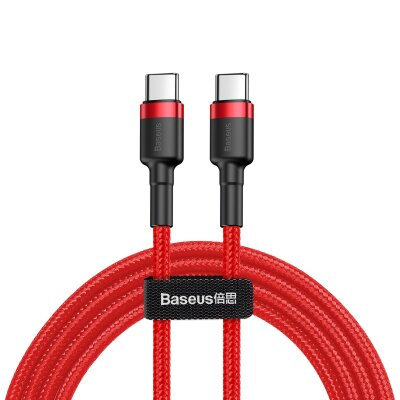 Кабель Baseus Cafule Series Type-C PD2.0 60W Flash charge Cable(20V 3A) (CATKLF-G09)  1M - Red