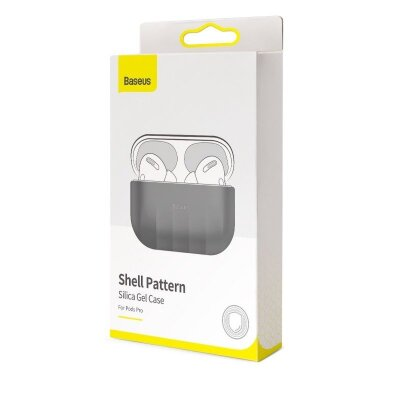 Чехол для AirPods Pro Baseus Shell pattern Silica Gel Case For Pods Pro (WIAPPOD-BK0G) - Grey